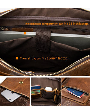Moulana Leather Briefcase