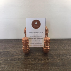 Copper Pipe Business Card Holder with Card