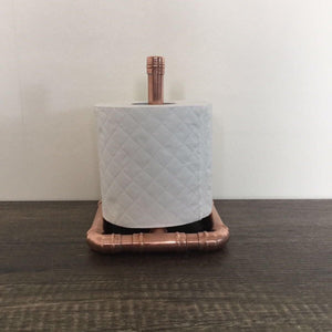 Handcrafted Copper Toilet Roll Holder