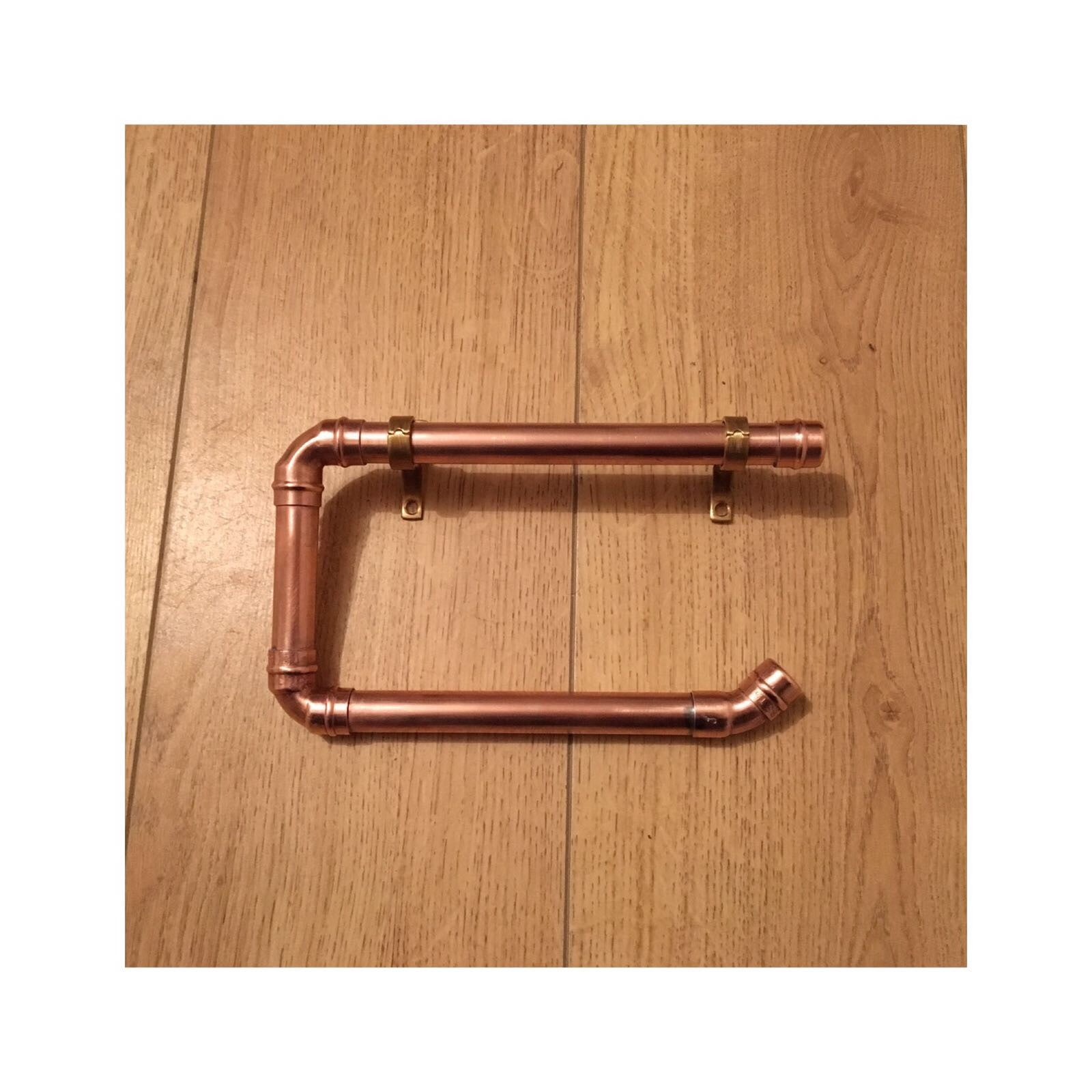 Copper Pipe Toilet Roll Holder