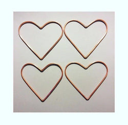 Four Copper Love Hearts