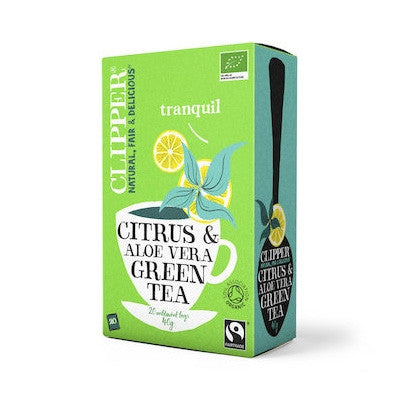 Clipper Organic Green Tea with Citrus & Aloe Vera 20 bags