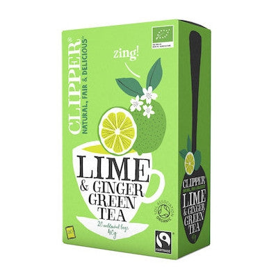 Ginger and Lime Tea - Clipper Green Tea