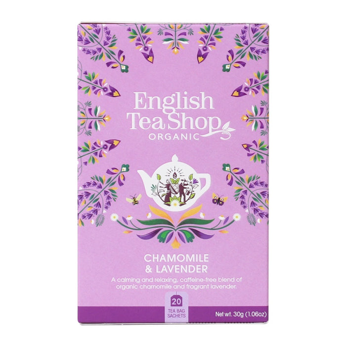 ENGLISH TEA SHOP Organic Chamomile Lavender 20 Tea Bags