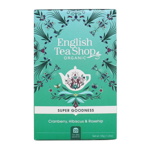 ENGLISH TEA SHOP Organic Cranberry, Hibiscus & Rosehip 20 Tea Bags