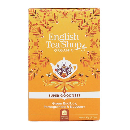 ENGLISH TEA SHOP Organic Green Rooibos, Pomegranate & Blueberry 20 Tea Bags