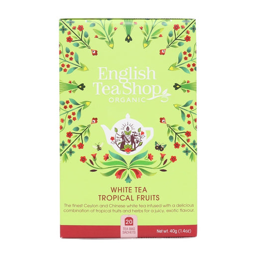 ENGLISH TEA SHOP Organic White Tea Tropical Fruits 20 Tea Bags