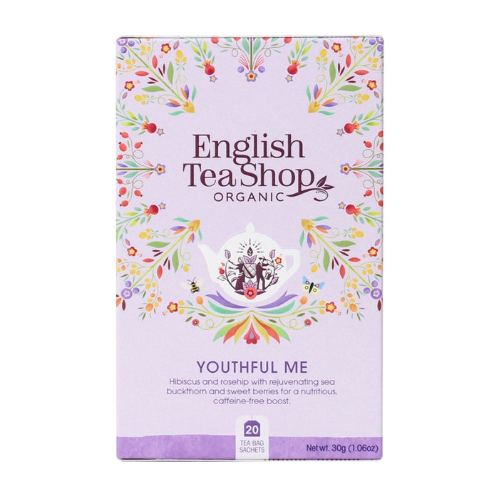 ENGLISH TEA SHOP Organic Wellness Tea Youthful Me 20 Tea Bags