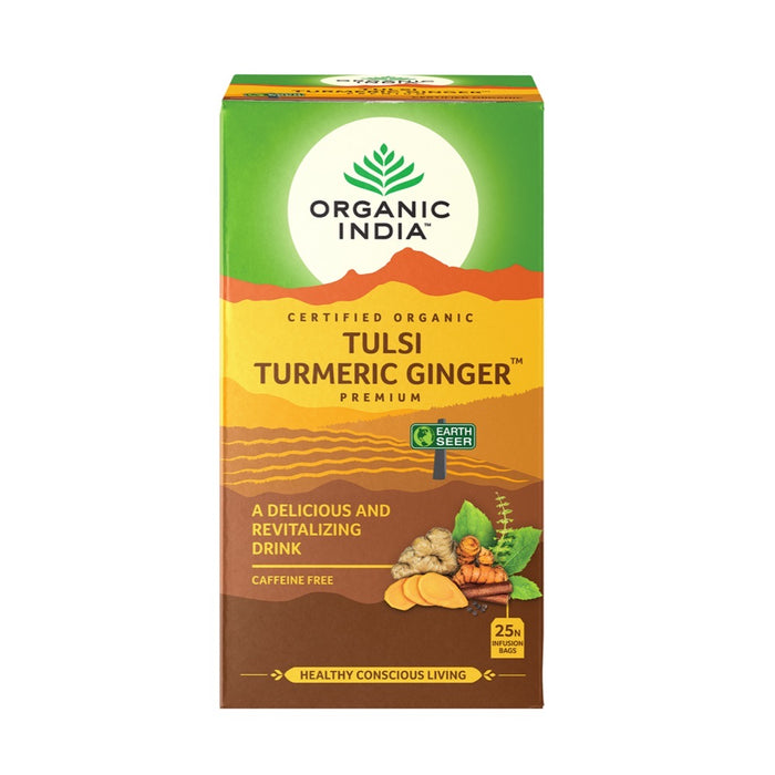 Organic India Tulsi Turmeric Ginger 25 Tea Bags