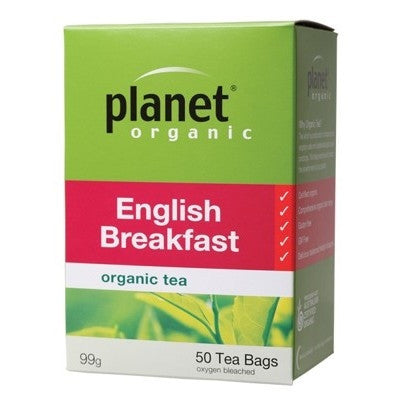 Planet Organic English Breakfast Tea - 50 Tea Bags