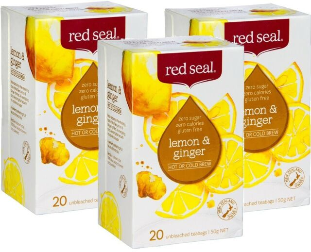 Lemon Ginger Tea - Red Seal Fruit Lemon & Ginger Tea