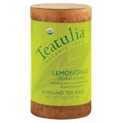 Teatulia Organic Lemongrass Herbal Tea 30 bags