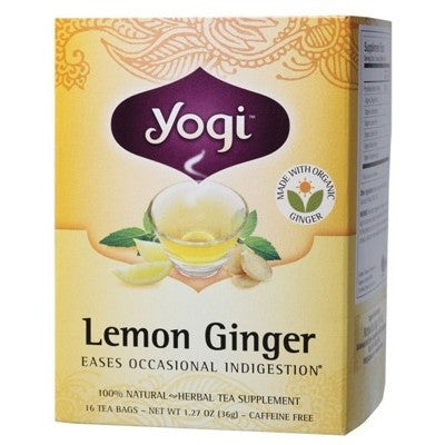 Yogi Lemon Ginger Tea -  Tea for Indigestion