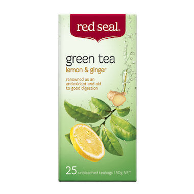 Red Seal Green Lemon & Ginger Tea 25 tea bags