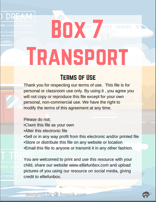[Free Printable] Box 7 Transport