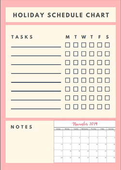 [Free Printable] Holiday Planner and Tracker 2019