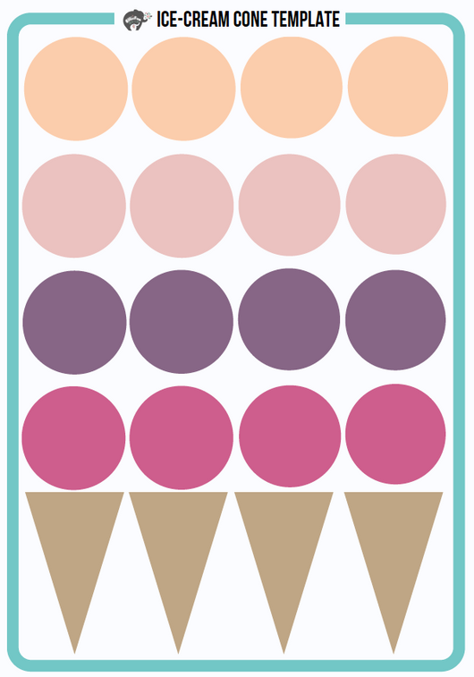 ice cream cone free template printable