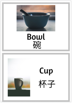 [Free Printable] Labels Around the House (English and Mandarin)