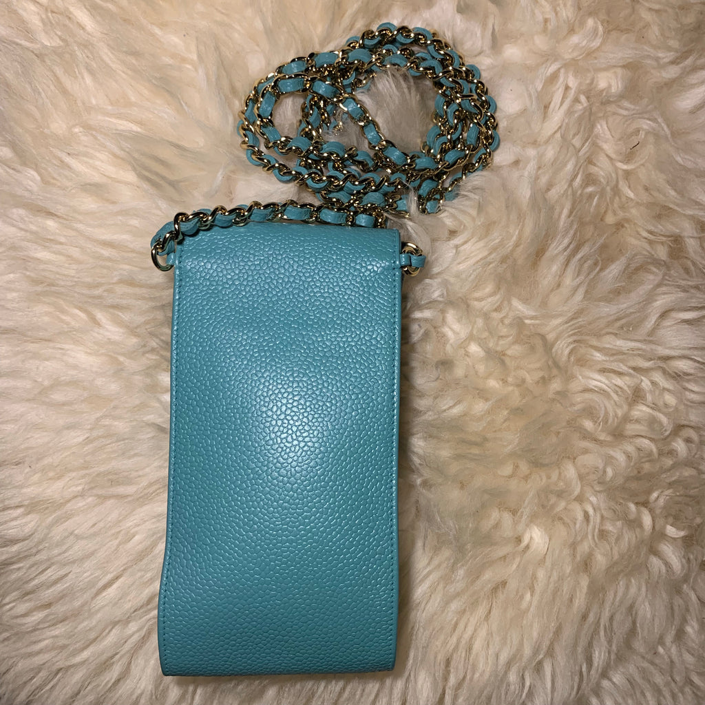 Vintage Caviar CHANEL CC Crossbody iphone Case