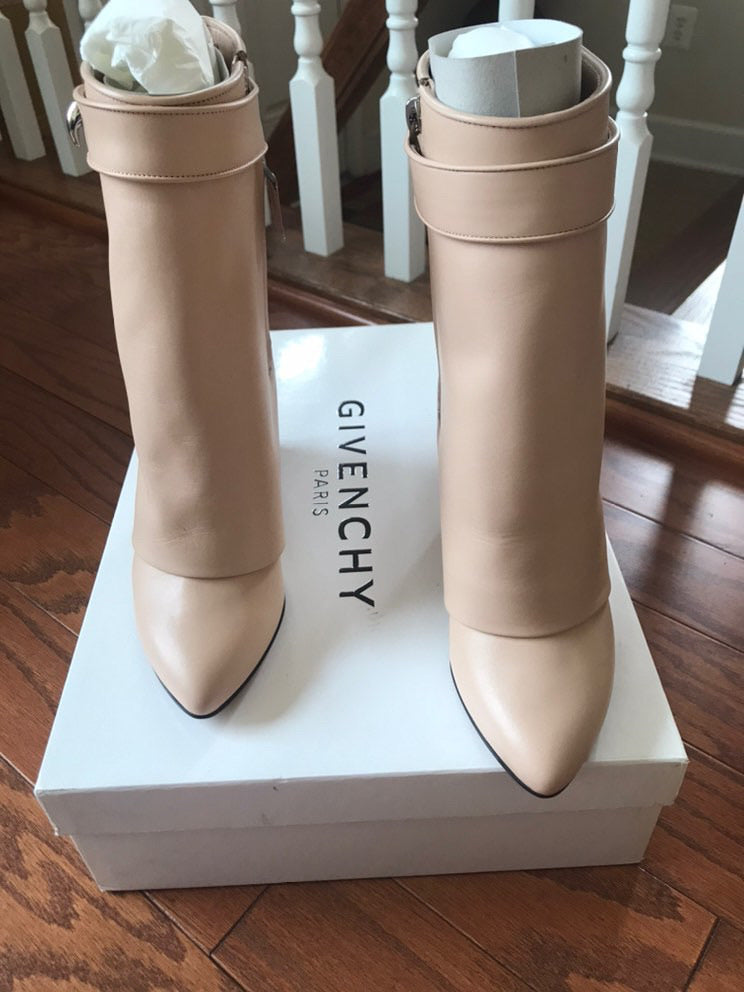 NIB GIVENCHY Mid Calf Shark Boot, 6