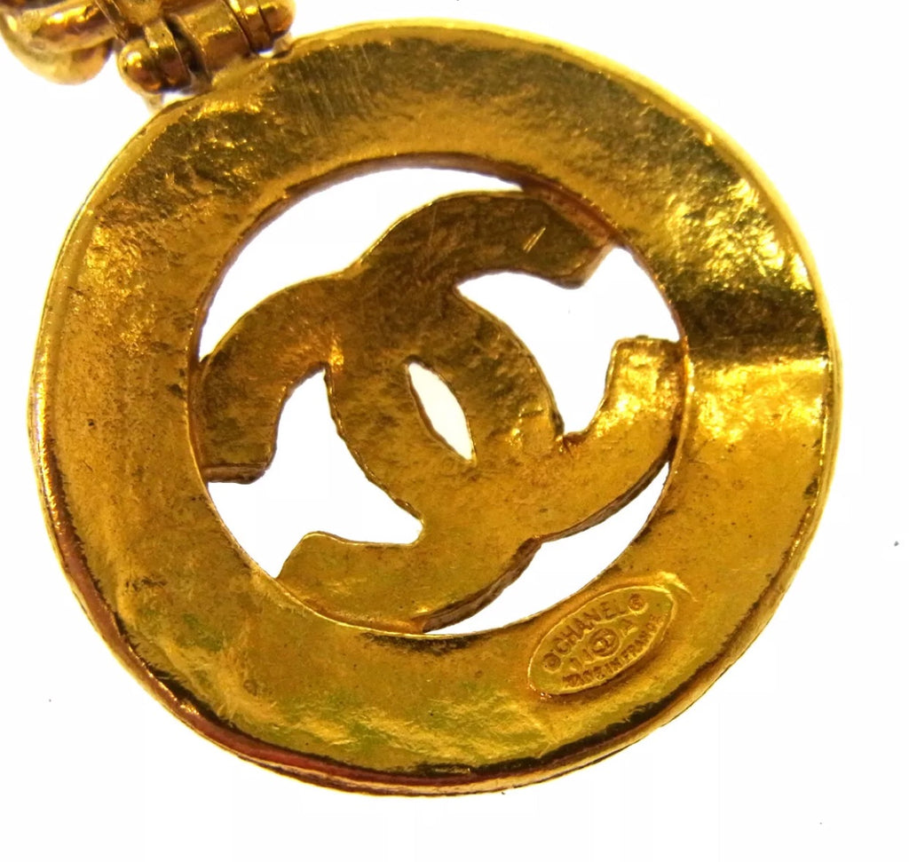 VINTAGE CHANEL CC LOGO NECKLACE