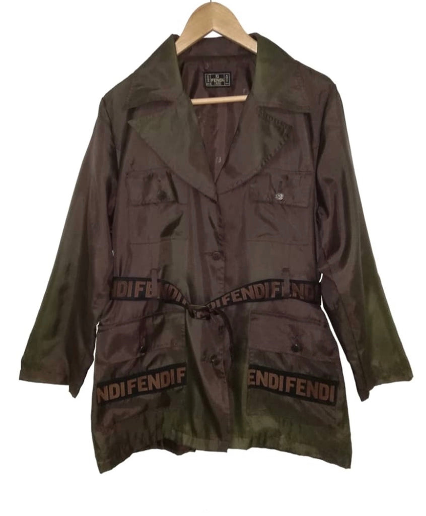 Unisex FENDI FF Army Jacket, Large