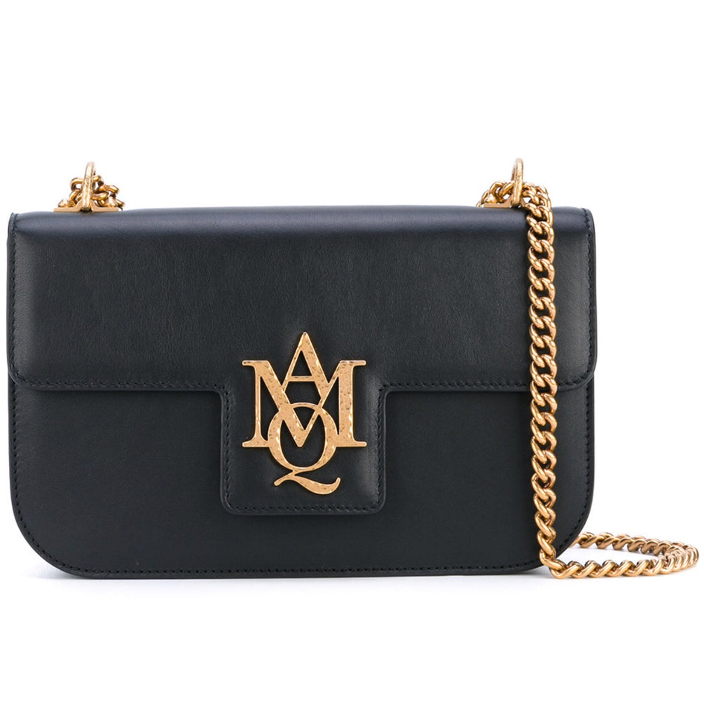 ALEXANDER MCQUEEN LOGO SHOULDER BAG