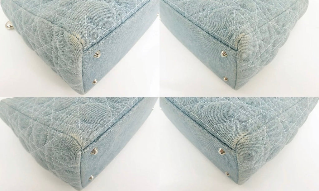 "Christian Dior ""Lady Dior"" Medium Denim Handbag"