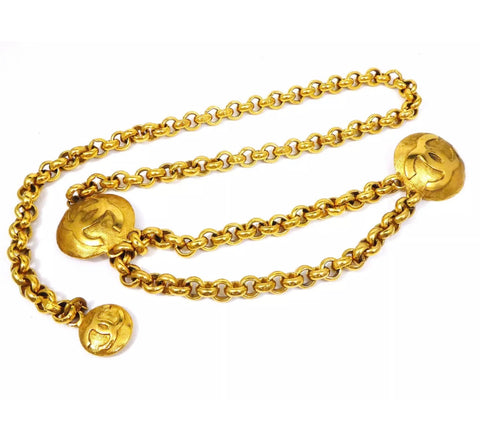 Vintage CHANEL Chain Belt, Gold