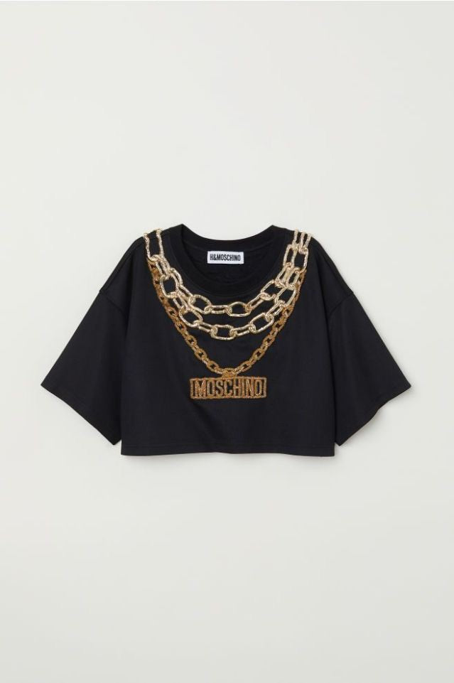 HMxMOSCHINO H&M x Moschino Short Top with Appliqués