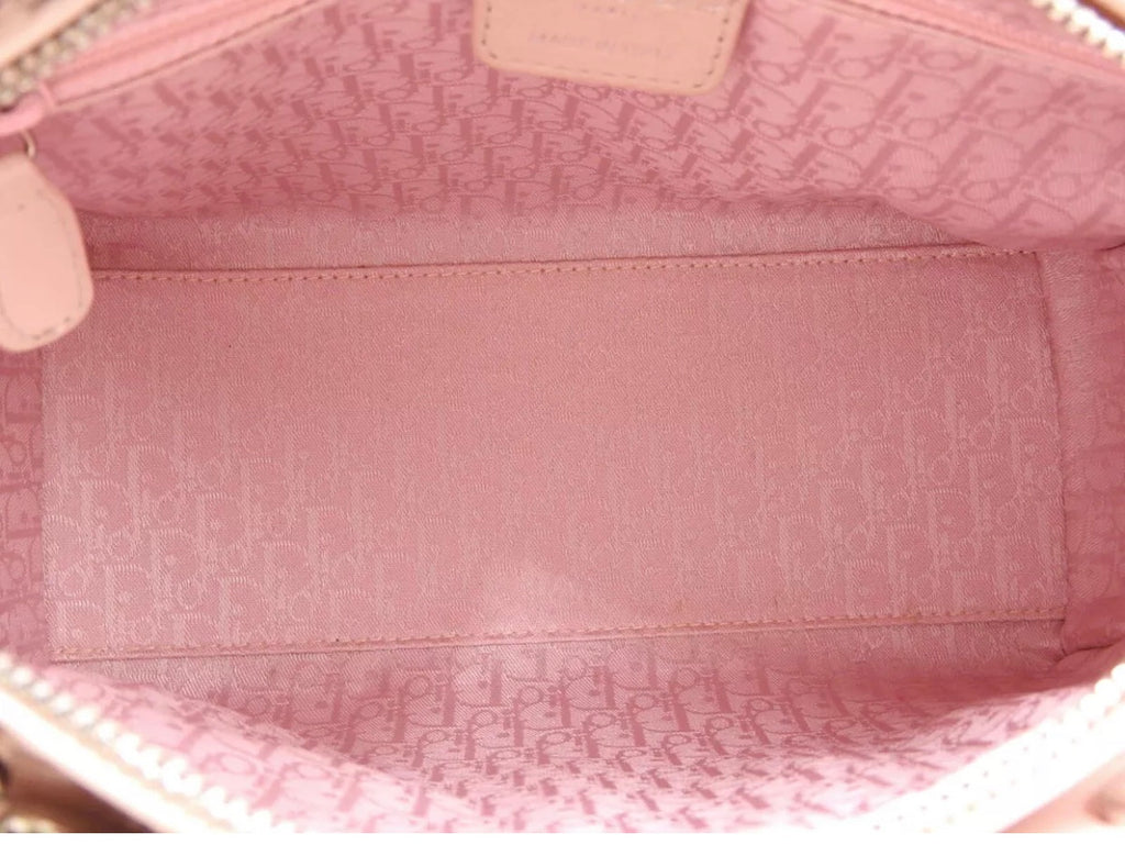 Pink Christian Dior Lady Dior Bag with Strap