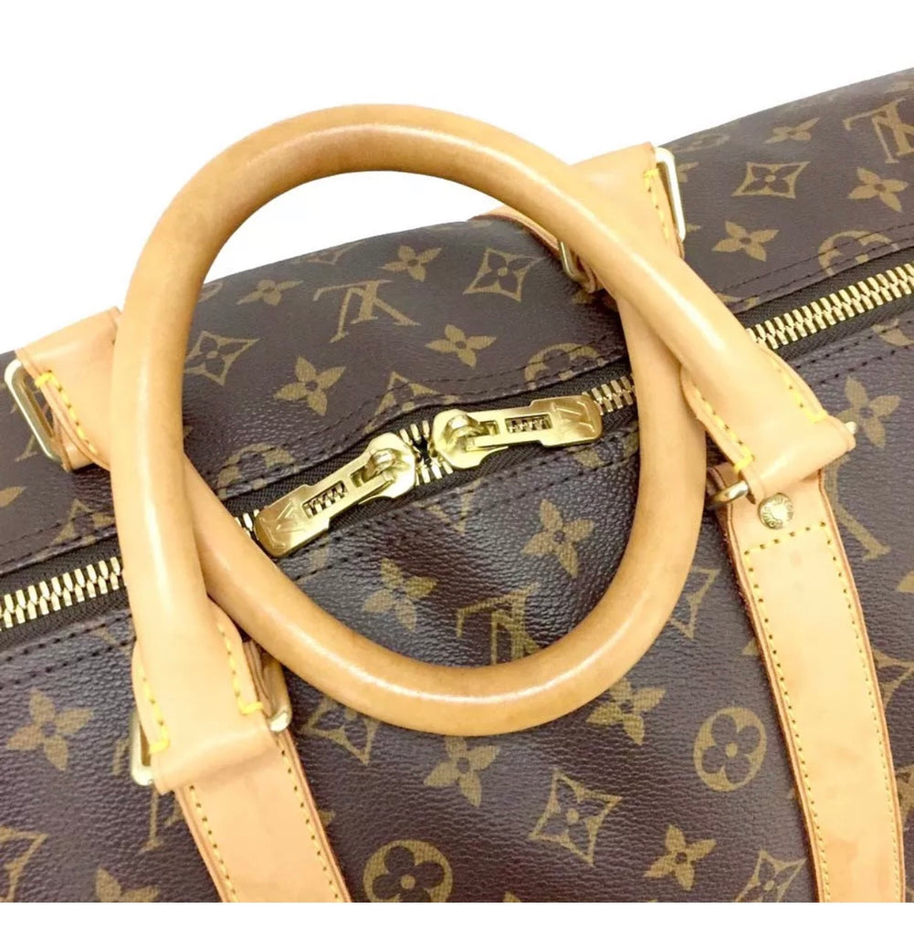 100% Auth Louis Vuitton Keepall 55 Duffel Bag