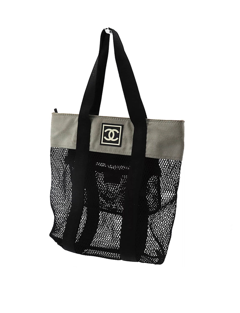 Vintage CHANEL Mesh Beach Tote Bag