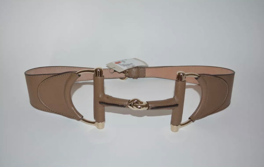 Gucci Wide Leather Horsebit Belt, size 75/30