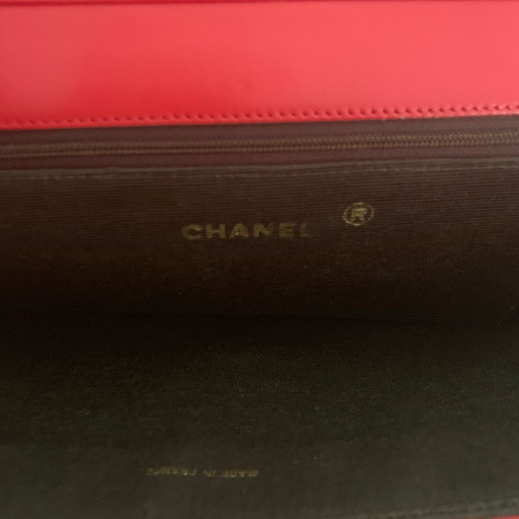 VINTAGE CHANEL ASYMETRICAL STITCH FLAP