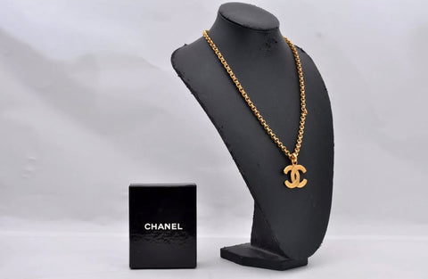 Vintage CHANEL CC Logo Pendant Necklace