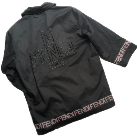 Unisex Oversized FENDI Logo Jacket, One size