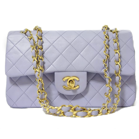 CHANEL 2.55 Classic Flap Lilac GHW 10""