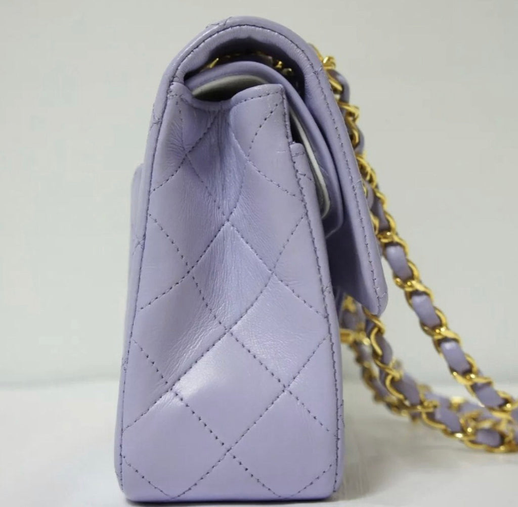 CHANEL 2.55 Classic Flap Lilac GHW - remaining balance