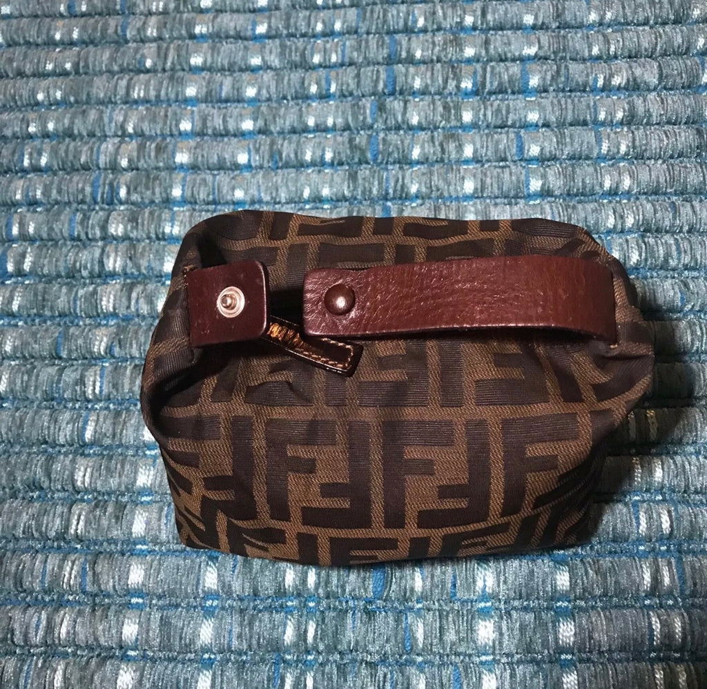 Vtg FENDI FF Monogram Mini Clutch Bag