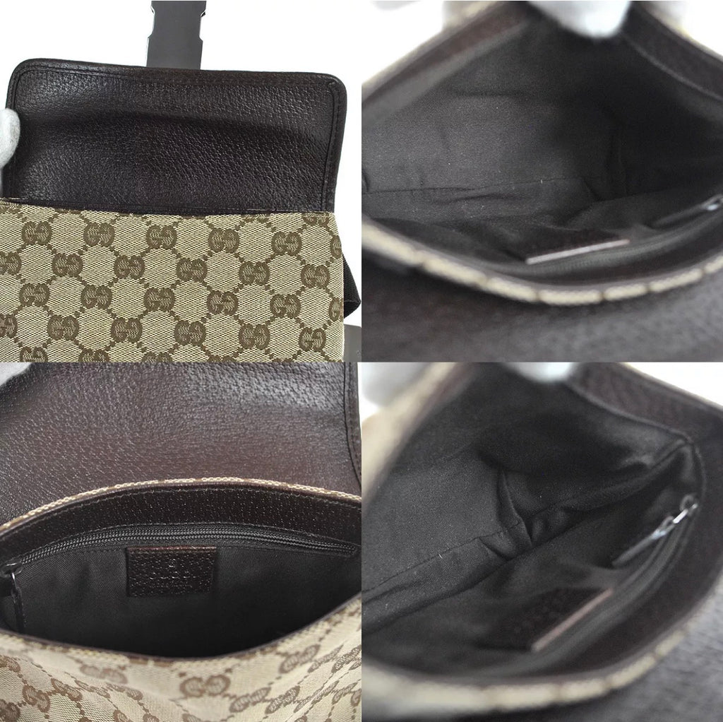 Vtg GUCCI GG Monogram Fanny Pack, one size