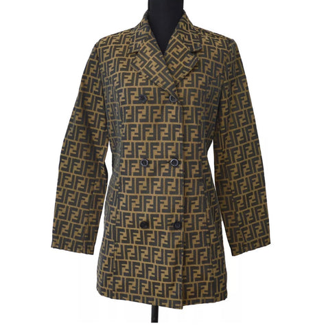 Vintage FENDI FF Monogram Long Blazer, IT42
