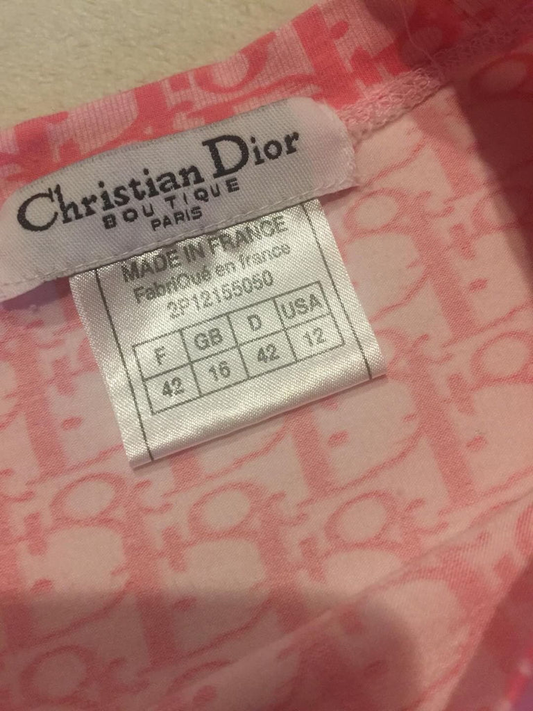CHRISTIAN DIOR MONOGRAM TROTTER TEE, S/M