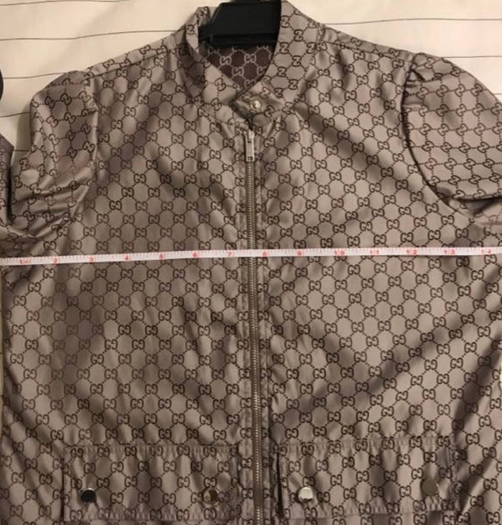 GUCCI SUPREME MONOGRAM NYLON GG JACKET, S