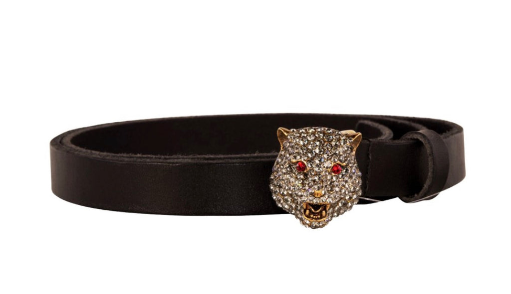 NEW GUCCI CRYSTAL DETAIL BELT, 90CM