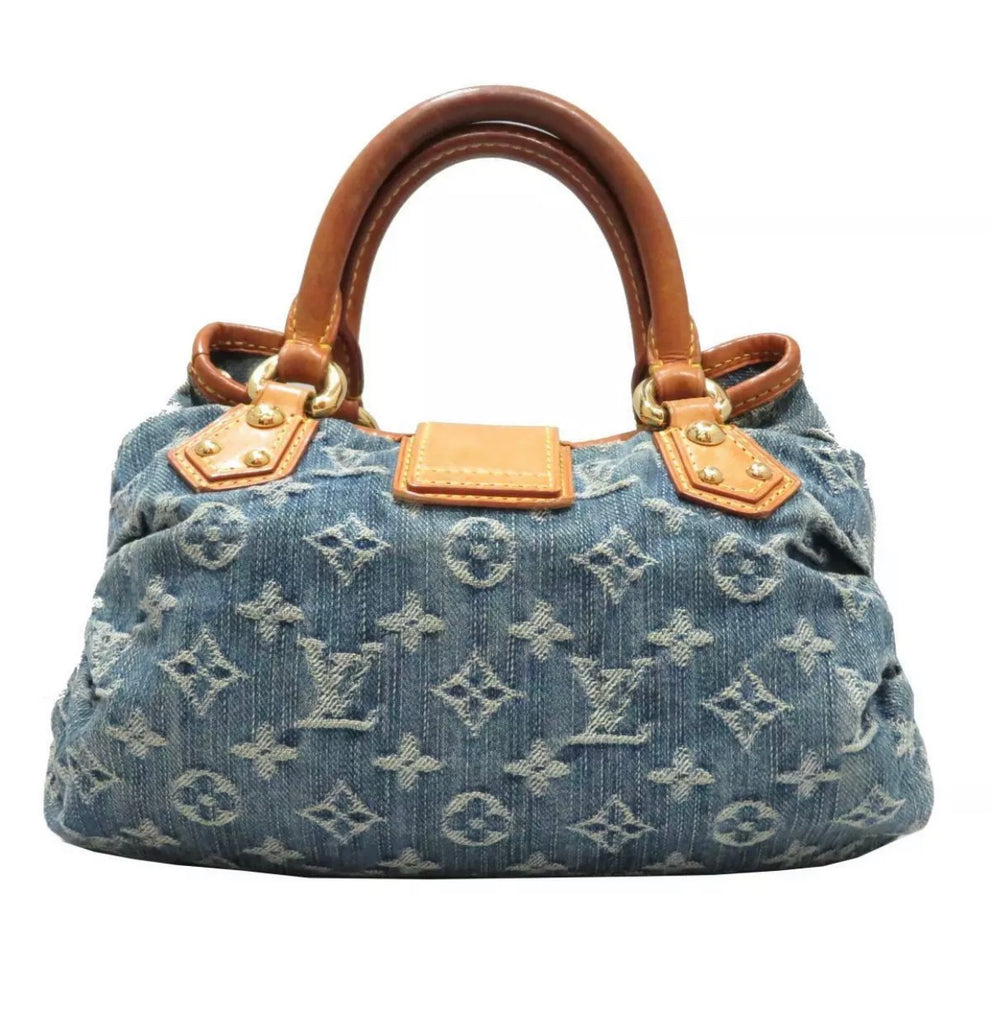 Vtg Louis Vuitton Denim Handbag, Medium