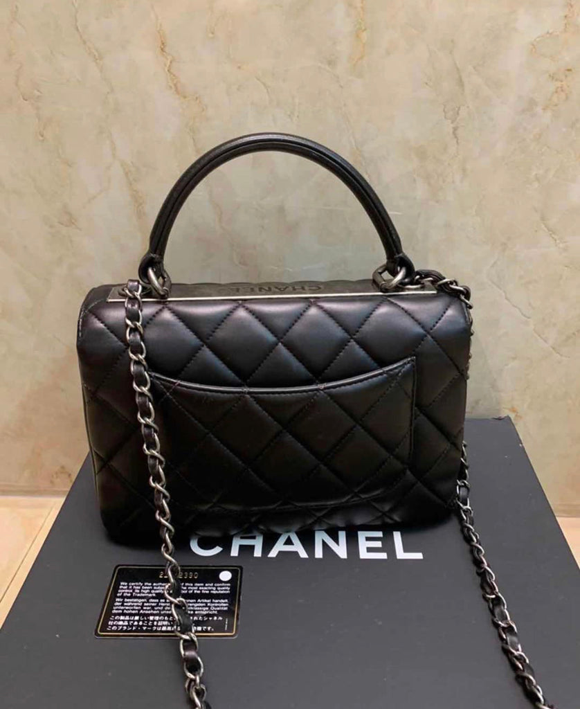 BLACK CHANEL TRENDY CC SMALL 10""