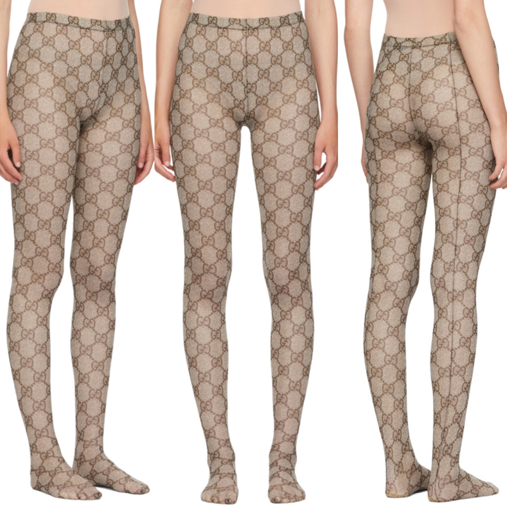 b0df85d7907 New GUCCI GG supreme Interlocking GG tights - Luxury Locker