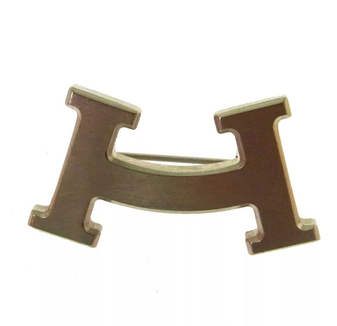 "HERMÉS ""H"" LOGO SMILEY BROOCH"