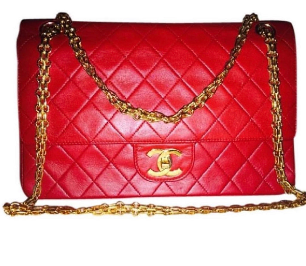 CHANEL 2.55 Classic Flap Red Lambskin GHW